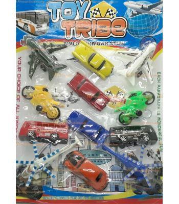 Toptan promosyon oyuncak 12 li araçlar komple set