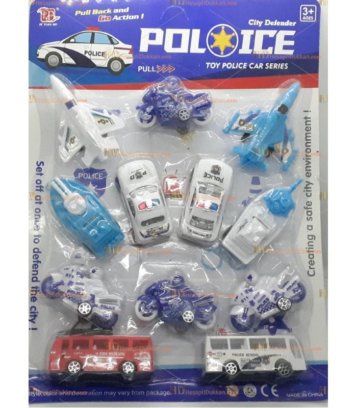 Toptan promosyon oyuncak 12 li polis seti