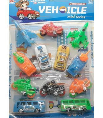 Toptan promosyon oyuncak 12 li araba uçak tekne set