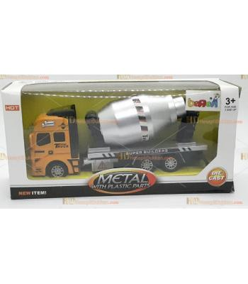 Toptan oyuncak beton kamyonu metal kutulu model araç