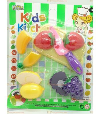 Toptan oyuncak kids mutfak kesme doğrama seti