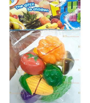Toptan oyuncak poşetli mutfak kesme doğrama seti
