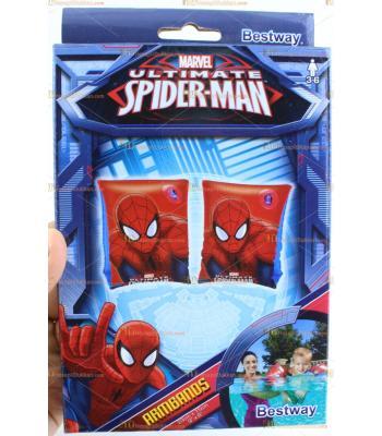 Toptan spider man şişme kolluk çocuk