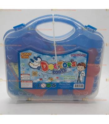 Toptan oyuncak doktor seti çantalı mavi