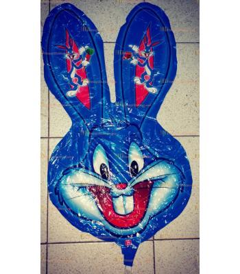 Toptan mavi tavşan kafa helyum folyo uçan balon