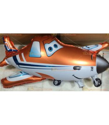 Toptan dev uçaklar turuncu helyum folyo uçan balon