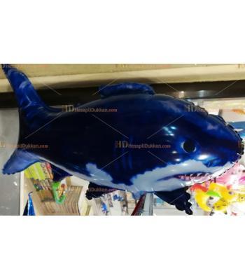 Toptan dev köpek balığı helyum folyo uçan balon