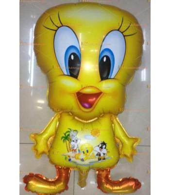 Toptan dev sarı civciv helyum folyo uçan balon