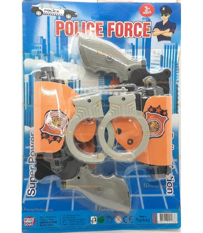 Toptan ikili oyuncak tabanca silah set kelepçeli