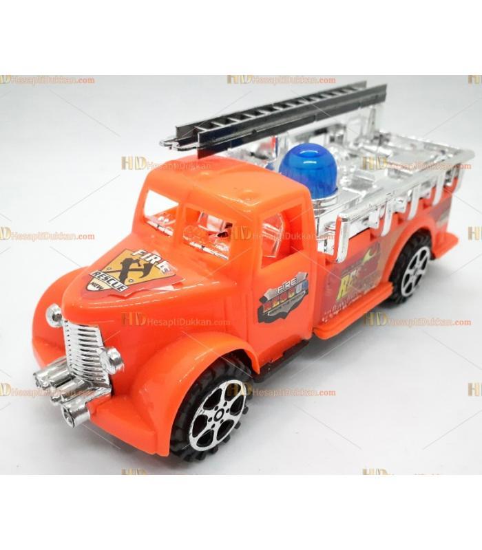 Toptan it bırak itfaiye arabası promosyon oyuncak turuncu
