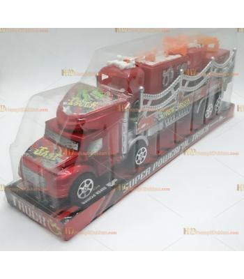 Toptan kırmızı itfaiye taşıyıcı oyuncak araba