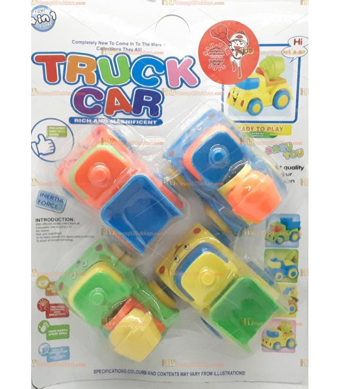 Toptan promosyon oyuncak araba dörtlü kırılmaz set