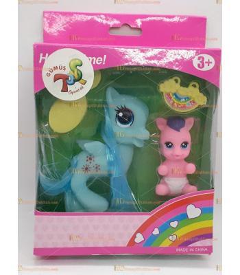 Toptan kutulu oyuncak pony at aksesuarlı
