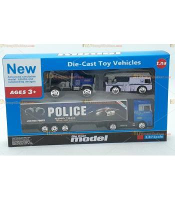 Toptan oyuncak kutulu polis seti üç araba