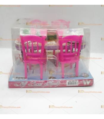 Toptan oyuncak yemek masası seti kare