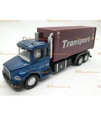 Toptan oyuncak çek bırak metal sesli transporter kamyon