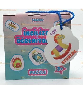 Toptan ingilizce öğreniyorum eğitici puzzle kartlar