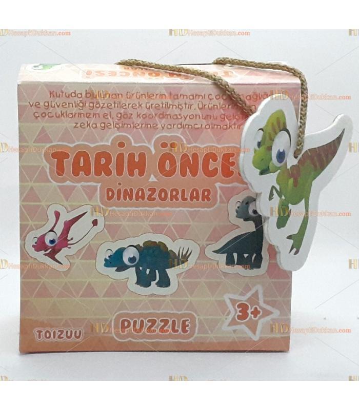 Toptan tarih öncesi dinozorlar eğitici puzzle kartlar