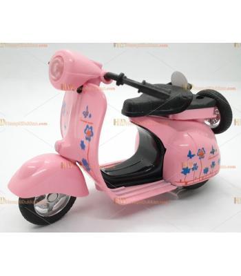 Toptan oyuncak çek bırak metal sesli ışıklı motosiklet pembe