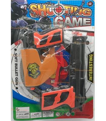 Toptan ikili oyuncak ucuz tabanca set oklu