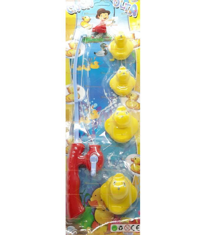 Toptan oyuncak ördekli olta seti kartela