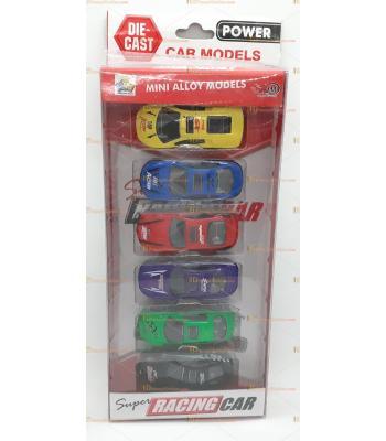 Toptan oyuncak kutulu altılı spor araba seti