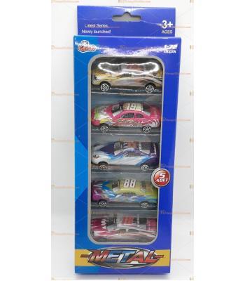 Toptan oyuncak kutulu beşli spor araba seti