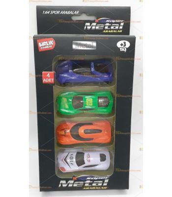 Toptan oyuncak kutulu dörtlü spor araba seti