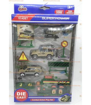 Toptan oyuncak kutulu savaş araçları seti