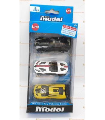 Toptan oyuncak kutulu üçlü spor araba seti