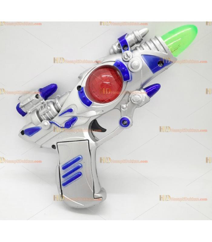 Toptan oyuncak uzay tabanca ışıklı sesli pilli küçük