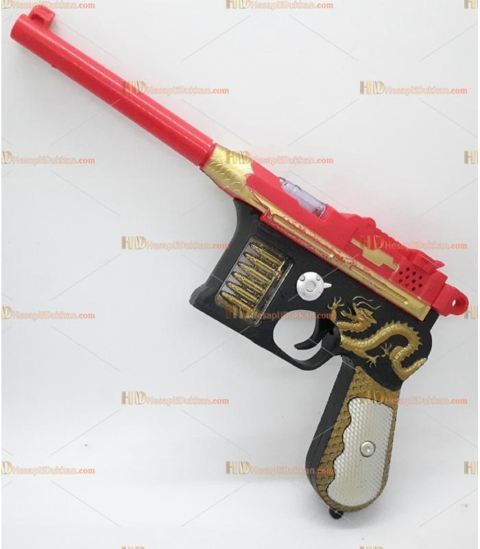 Toptan oyuncak ejderha tabanca ışıklı sesli pilli hareketli