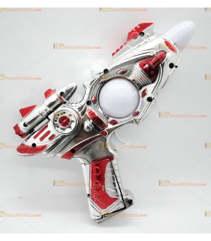 Toptan oyuncak tabanca ışıklı sesli pilli orta boy