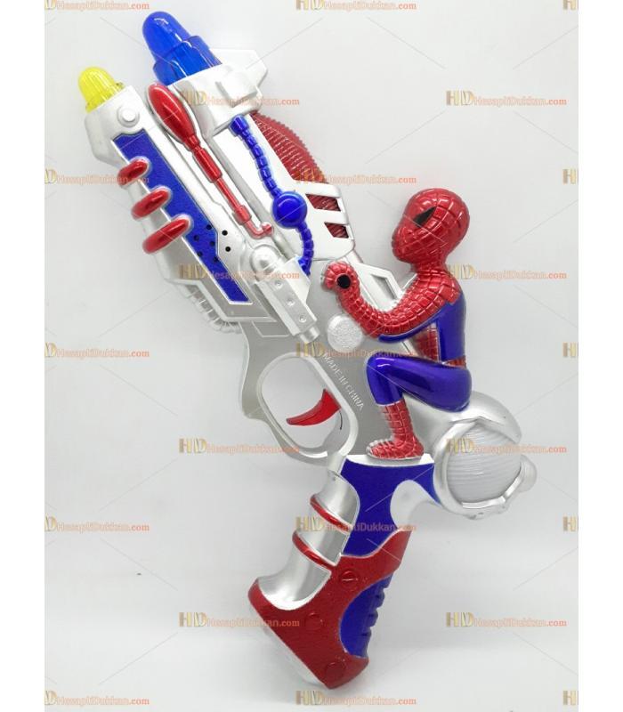 Toptan oyuncak tabanca ışıklı sesli pilli örümcek adam