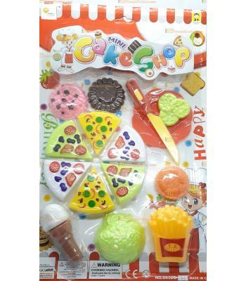 Toptan oyuncak pizza kesme seti cırt