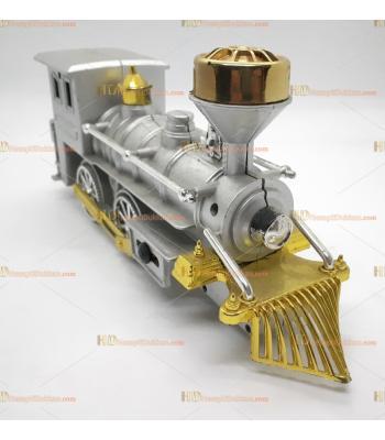 Toptan büyük boy it bırak tren oyuncak metalik gümüş