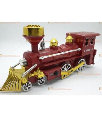 Toptan büyük boy it bırak tren oyuncak kırmızı