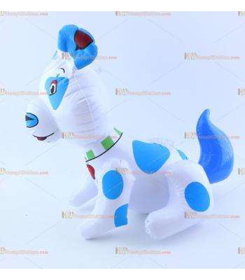Toptan plastik hayvan şişme balon mavi beyaz köpek