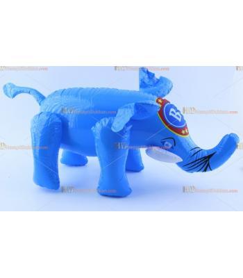 Toptan plastik hayvan şişme balon mavi fil