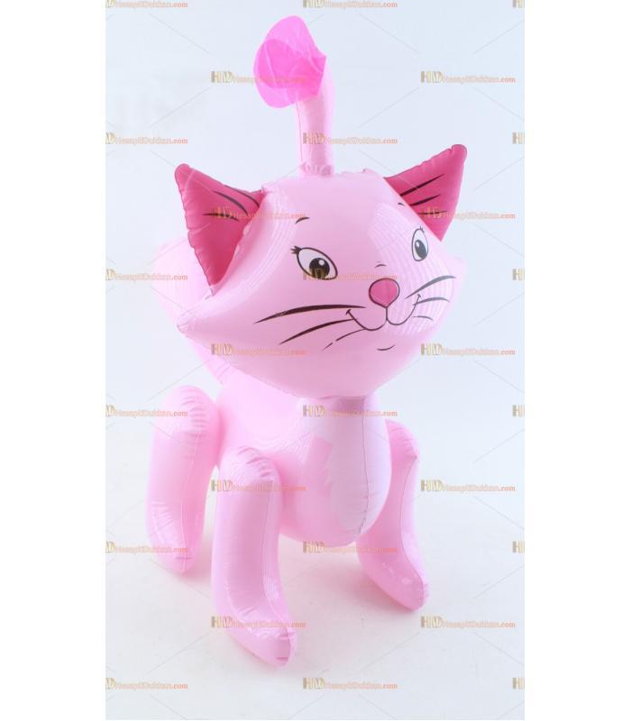 Toptan plastik hayvan şişme balon pembe kedi