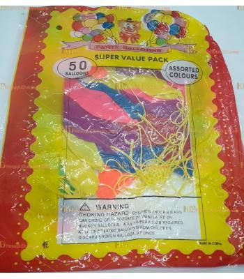 Toptan ipli lastikli balon 50 li paket panç