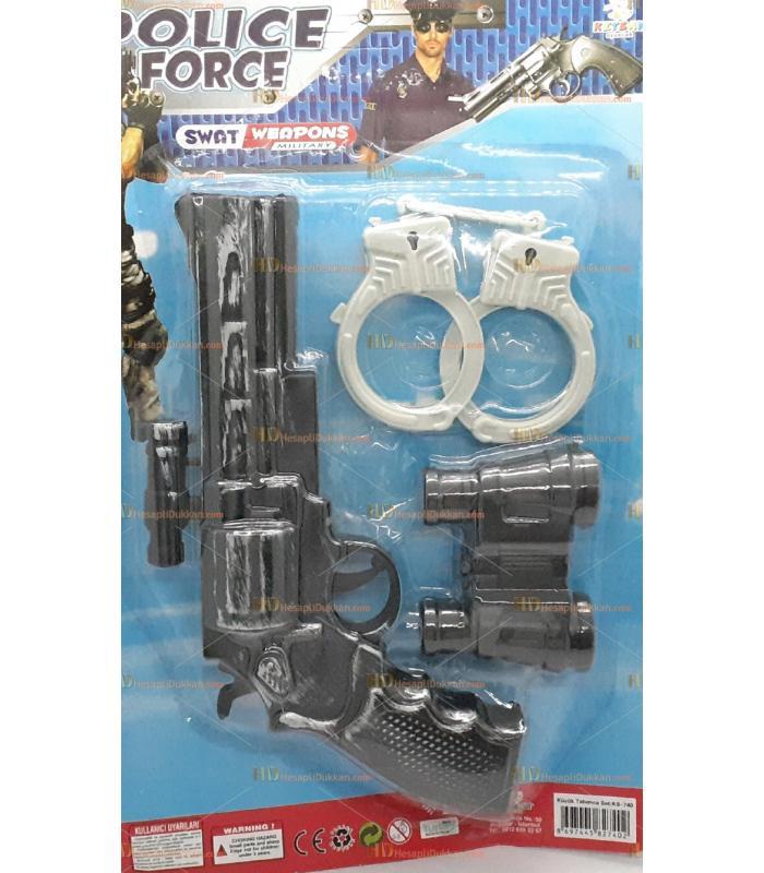 Toptan tekli oyuncak tabanca silah set kelepçeli