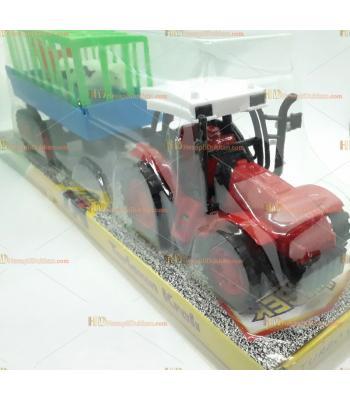 Toptan kasalı it bırak traktör oyuncak kırmızı