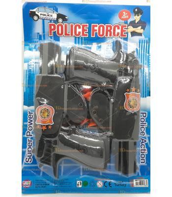 Toptan oyuncak tabanca silah ikili polis set