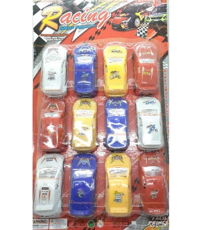 Toptan oyuncak 12 li çek bırak yarış arabası seti