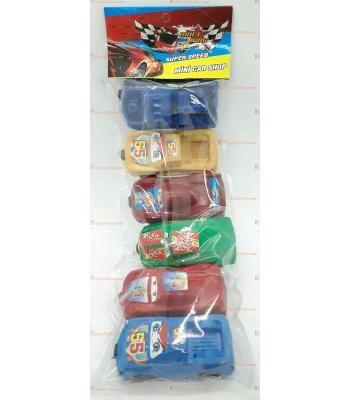 Toptan oyuncak 6 lı yerli araba seti şimşek mqueen