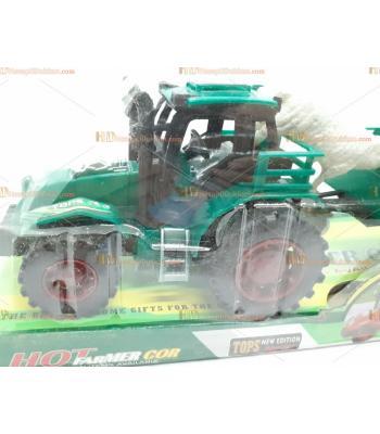 Yeşil hayvanlı traktör oyuncak toptan