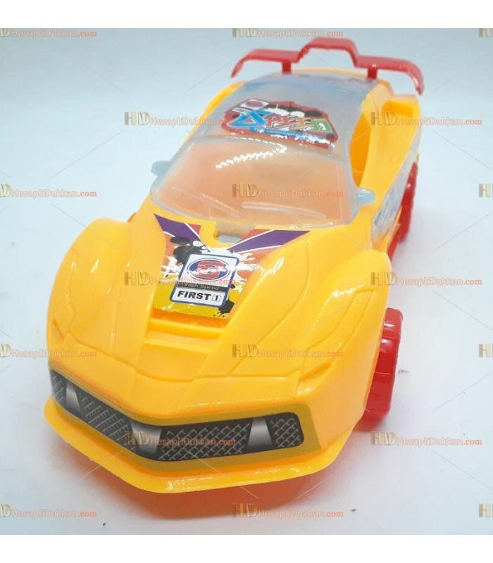 Toptan promosyon oyuncak araba ipli çek bıraklı ışıklı