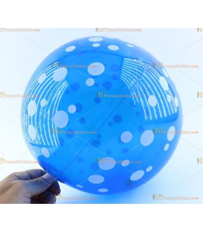 Toptan plastik hayvan şişme balon deniz topu mavi