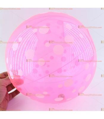 Toptan plastik hayvan şişme balon deniz topu pembe